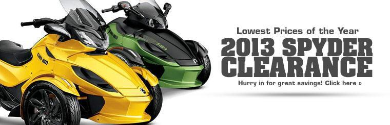 2013 Can-Am Spyder Clearance: Hurry in for great savings!