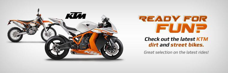 Click here to check out the latest KTM dirt and street bikes.