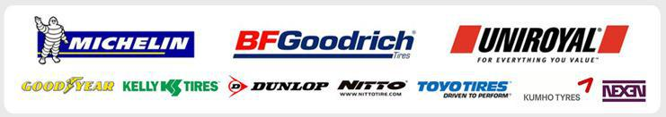 We are proud to feature products from Michelin®, BFGoodrich®, Uniroyal®, Goodyear, Kelly, Dunlop, Nitto, Toyo, Kumho and Nexen!