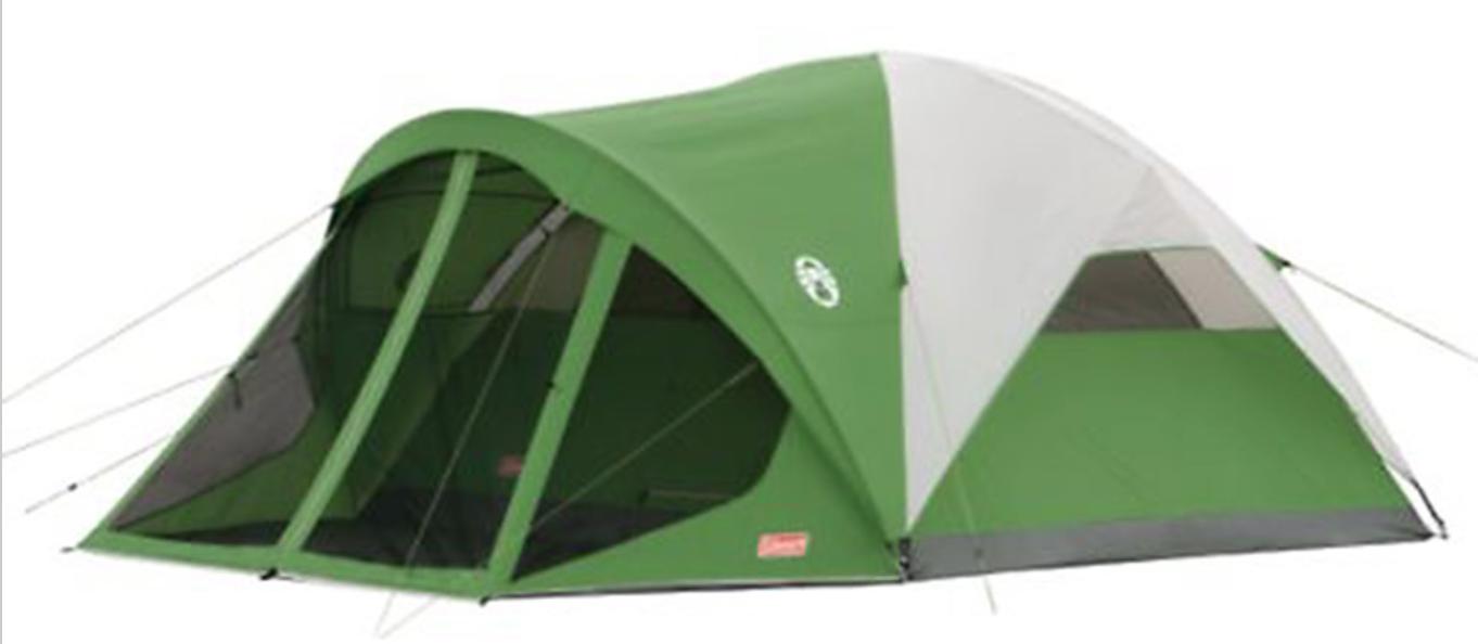 1970s Coleman Vine 10 X 8 Oasis Green Canvas Tent