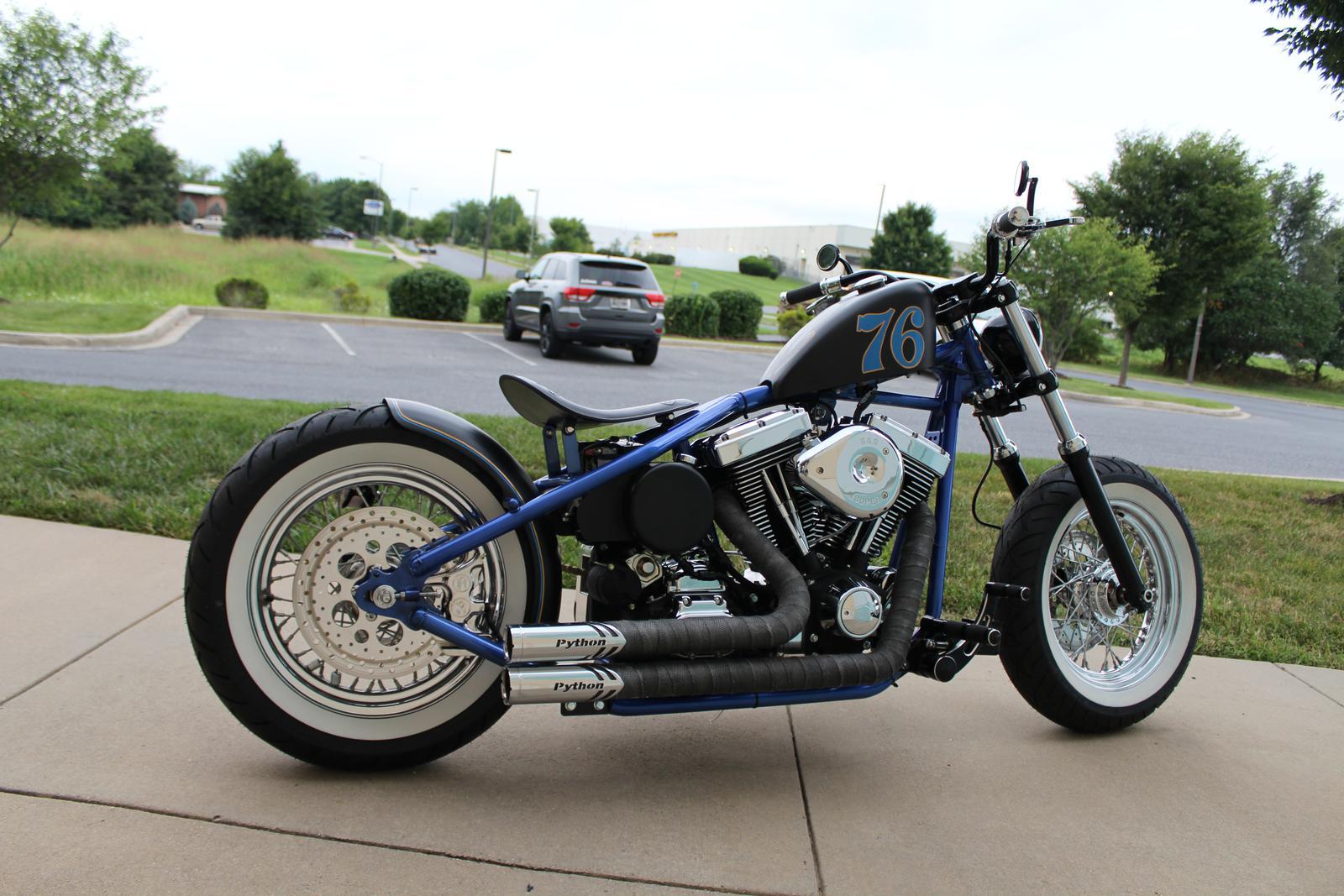 Rigid Frame Bobber for Lewis Hotchkiss Jackman Custom Cycles