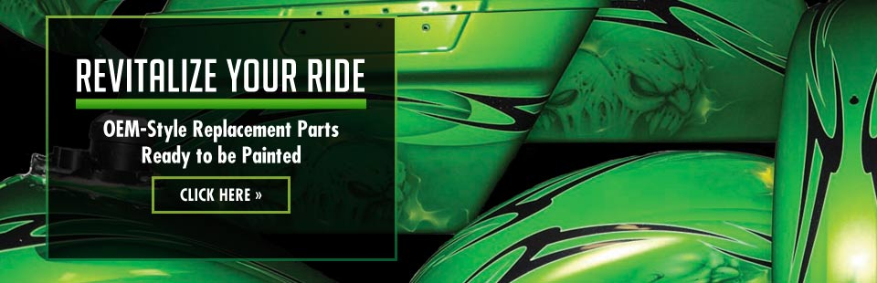 Revitalize your ride with OEM-style replacement parts that are ready to be painted! Click here to view our gallery.