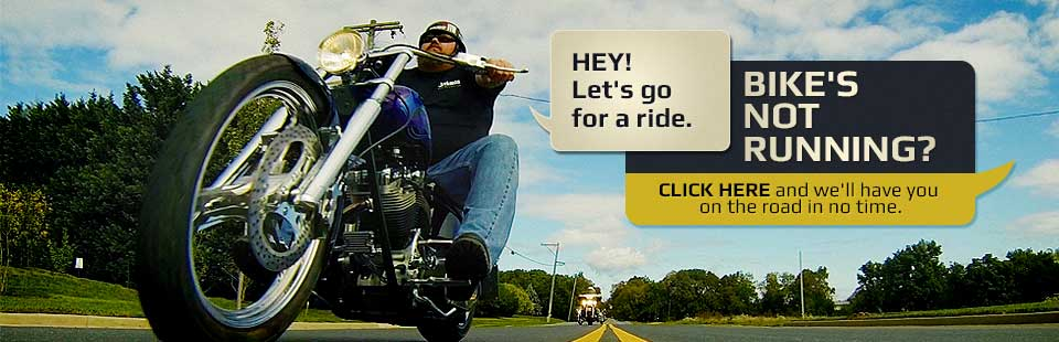 We offer motorcycle maintenance! Click here for details.