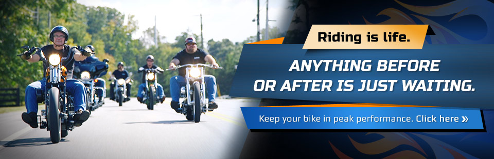 Riding is life. Anything before or after is just waiting. Keep your bike in peak performance. Click here to view our services.