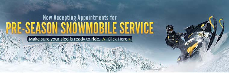 We are now accepting appointments for pre-season snowmobile service!