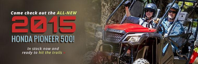 Come check out the all-new 2015 Honda Pioneer 500!