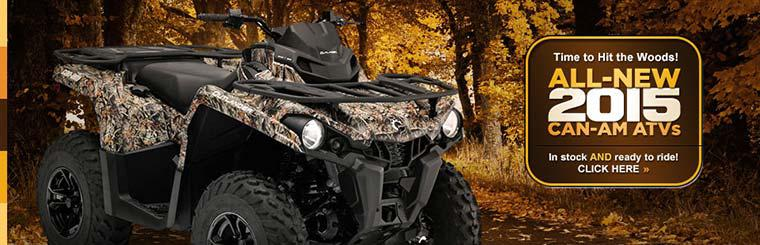 All-New 2015 Can-Am ATVs: Click here to view the models.