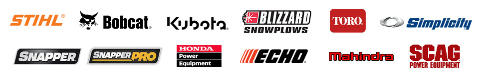 We carry products from STIHL, Bobcat, Kubota, Blizzard, Toro, Simplicity, Snapper, Snapper Pro, Honda Power Equipment, ECHO, Mahindra, and Scag.
