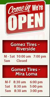 Gomez Tires - Hours of Operation