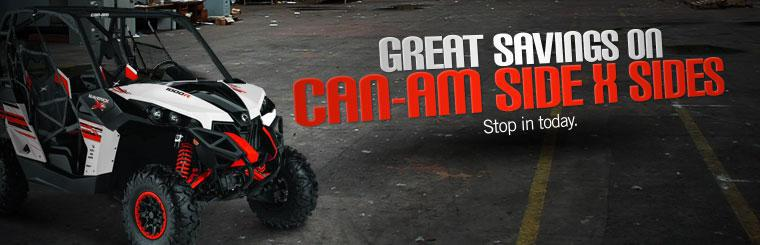 Great Savings on Can-Am Side x Sides: Stop in today.