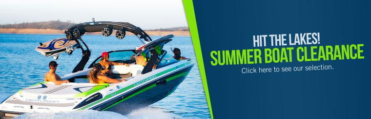 Summer Boat Clearance: Click here to see our selection.