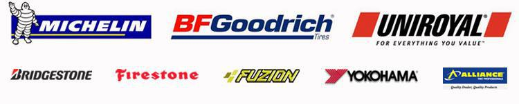 We carry great products from Michelin®, BFGoodrich®, Uniroyal®, Bridgestone, Firestone, Fuzion, Yokohama, and Alliance.