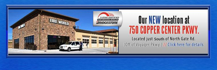 Visit our new location at 750 Copper Center Parkway! Click here for details.