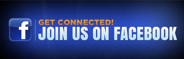 Get connected! Join us on Facebook.