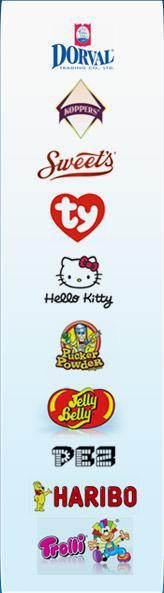 We proudly offer products from Droval, Koppers, Sweet's, Ty, Hello Kitty, Pucker Powder, Jelly Belly, Pez, Haribo, and Trolli.