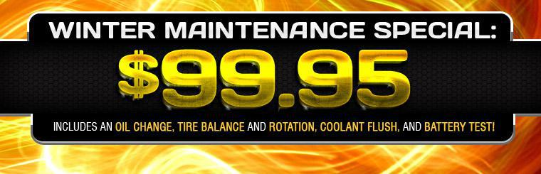 Winter Maintenance Special: $99.95