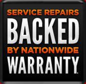Service repairs backed by nationwide warranty.