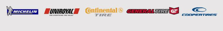 We carry products from Michelin®, Uniroyal®, Continental, General, and Cooper.