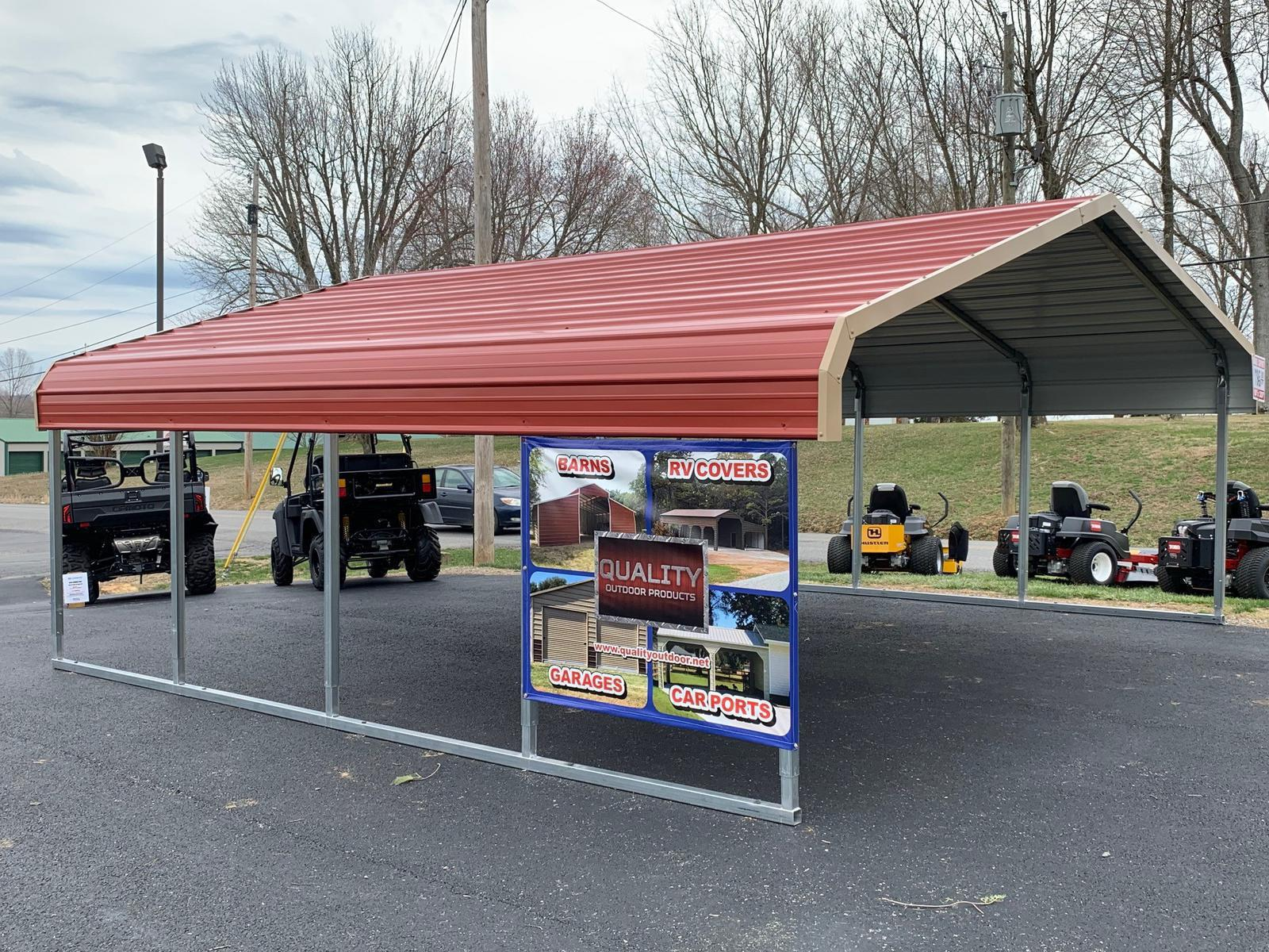 2019 Quality Outdoor Products Double Carport 18' X 20'