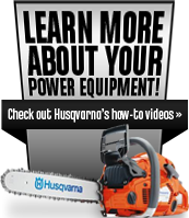 Learn more about your power equipment! Check out Husqvarna's how-to videos.