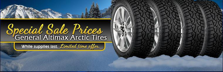 Click here for special sale prices on General Altimax Arctic tires!