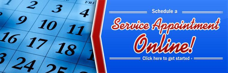 Schedule an appointment! Click here to schedule a service appointment online.