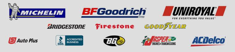 We proudly carry Michelin®, BFGoodrich®, Uniroyal®, Bridgestone, Firestone, Goodyear, BG, Jasper, and ACDelco. We are accredited by the BBB. Auto Plus.