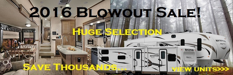 save thousands, blowout sale, fifth wheels & travel trailers