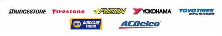 We proudly offer products from Bridgestone, Firestone, Fuzion, Yokohama, Toyo and ACDelco. We are a Napa AutoCare Center.