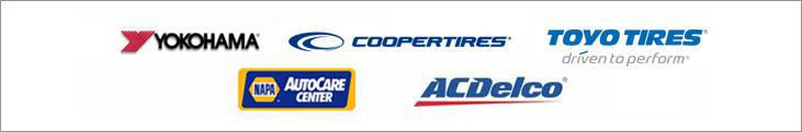 We proudly offer products from Yokohama, Cooper, Toyo and ACDelco. We are a NAPA AutoCare Center.