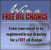Win a free oil change! Enter your email below or click here for more details.