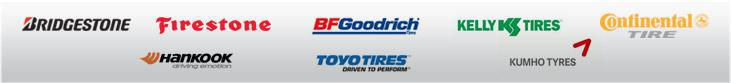 We proudly carry products from Bridgestone, Firestone, BFGoodrich®, Kelly, Continental, Hankook, Toyo, and Kumho.