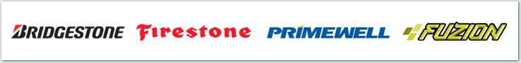 We proudly carry products from Bridgestone, Firestone, Primewell, and Fuzion.