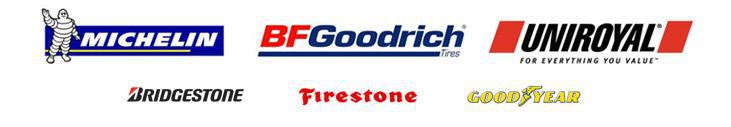 We carry products by Michelin®, BFGoodrich®, Uniroyal®, Bridgestone, Firestone, and Goodyear.