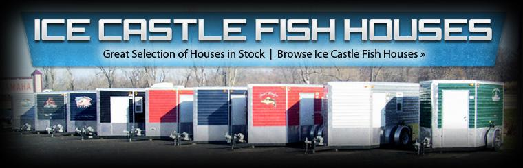 We have a great selection of Ice Castle fish houses in stock! Click here to browse online.