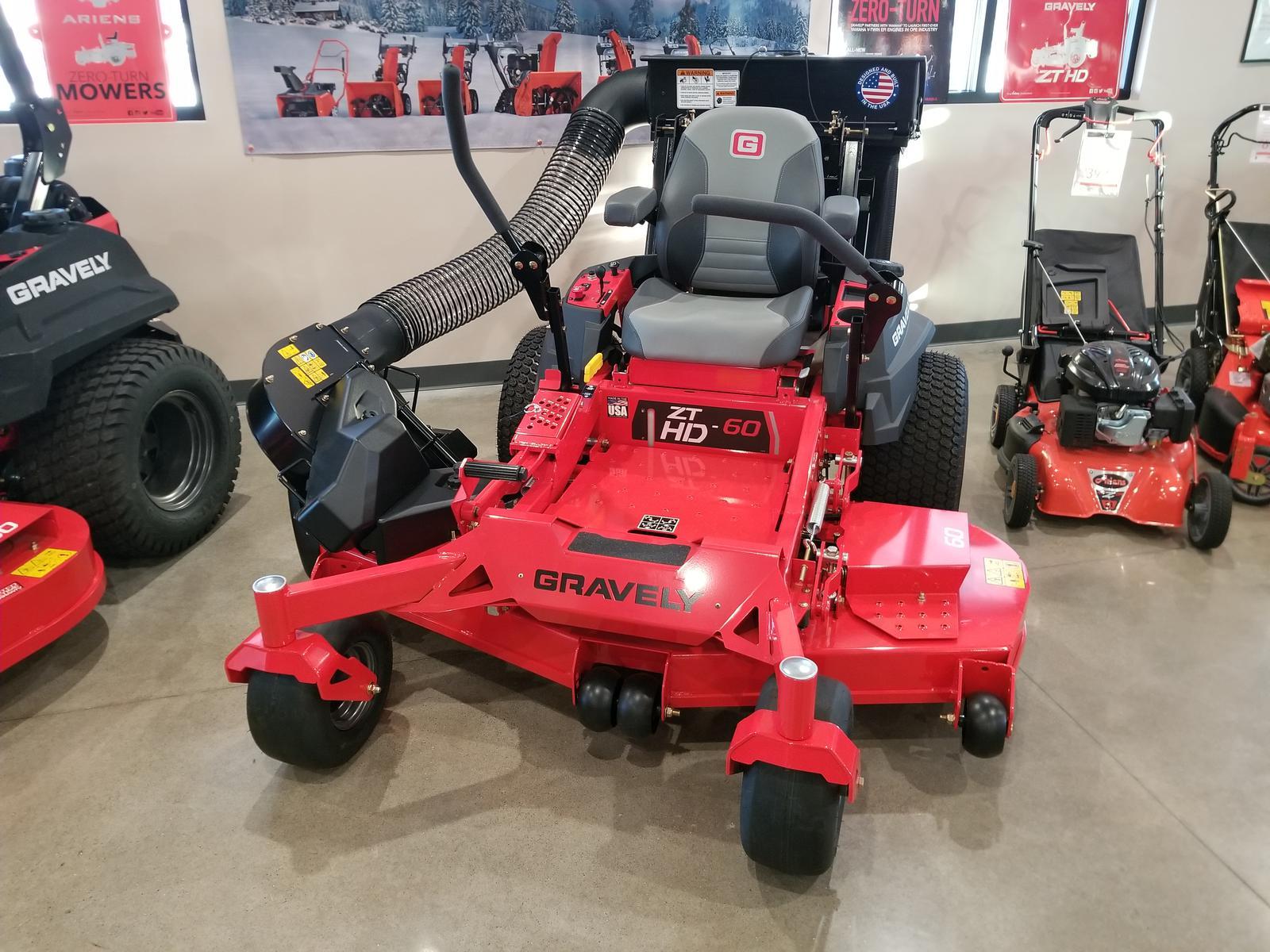 2018 gravely zt hd 60-24hp kaw. W/bagger kit zero turn mower for.