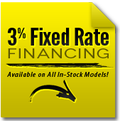 3% Fixed Rate Financing. Available on All In-Stock Models!