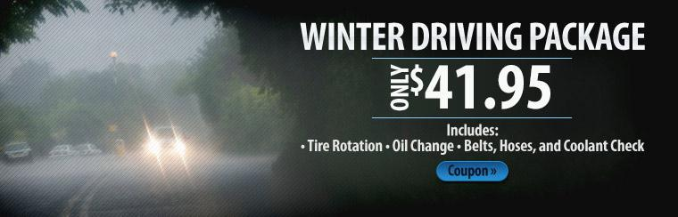 Winter Driving Package Only $41.95