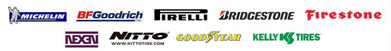We carry products from Michelin®, BFGoodrich®, Pirelli, Bridgestone, Firestone, Nexen, Nitto, Kelly, and Goodyear.