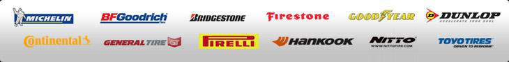 We proudly offer products from Michelin®, BFGoodrich®, Bridgestone, Firestone, Goodyear, Dunlop, Continental, General Tire, Pirelli, Hankook, Nitto, and Toyo Tires.