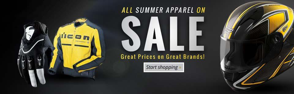 All summer apparel is on sale!
