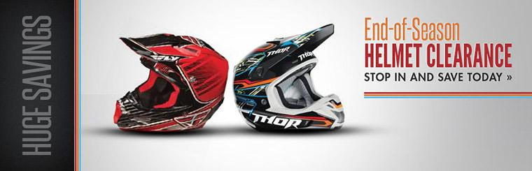 End-of-Season Helmet Clearance: Click here to check out our huge savings.