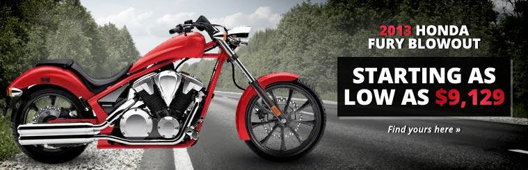 2013 Honda Fury Blowout: Click here to find yours.