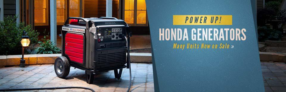 Honda Generators: Click here to view the models.