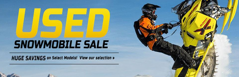 Used Snowmobile Sale: Take advantage of huge savings on select models!