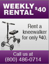 Rent a kneewalker for only $40