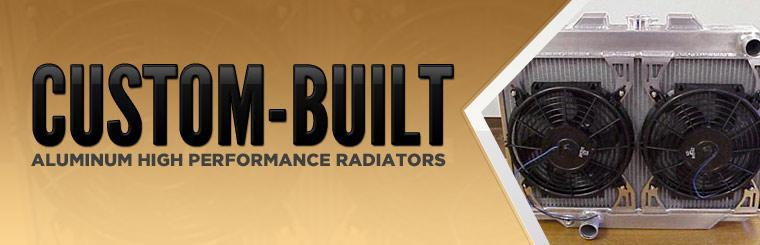 We offer custom-built aluminum high performance radiators!