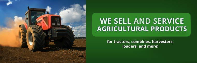 We sell and service agricultural products for tractors, combines, harvesters, loaders, and more!