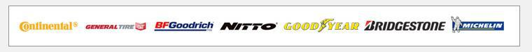 We carry products from Continental, General, BFGoodrich®, Nitto, Goodyear, Bridgestone, and Michelin®.