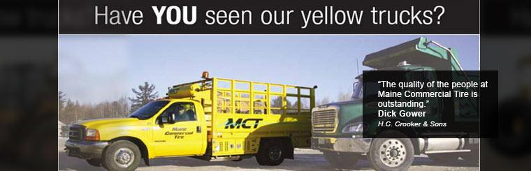 Have you seen our yellow trucks?